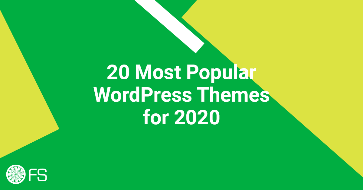 20 Most Popular WordPress Themes for 2020