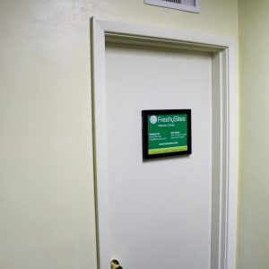 FreshySites office door in Charlottesville