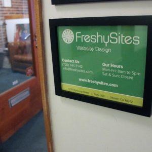 FreshySites office sign in Denver