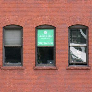 Window of FreshySites Denver office
