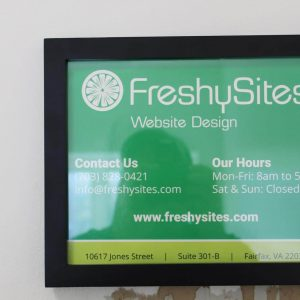 FS Fairfax sign with hours and contact info