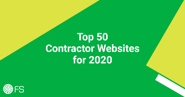 Top 50 Contractor Websites for 2020